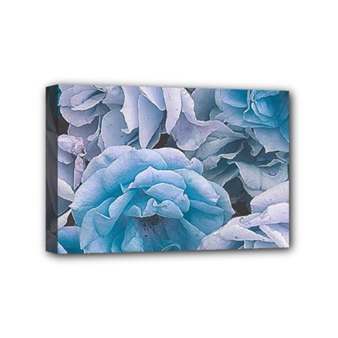 Great Garden Roses Blue Mini Canvas 6  X 4  by MoreColorsinLife