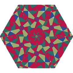 Shapes In Squares Pattern Umbrella by LalyLauraFLM