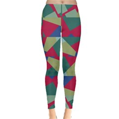 Shapes In Squares Pattern Leggings by LalyLauraFLM