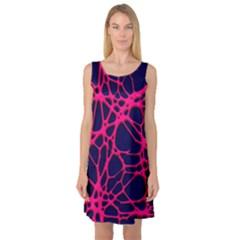 Hot Web Pink Sleeveless Satin Nightdresses by ImpressiveMoments