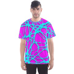 Hot Web Turqoise Pink Men s Sport Mesh Tees by ImpressiveMoments