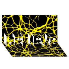 Hot Web Yellow Believe 3d Greeting Card (8x4)  by ImpressiveMoments