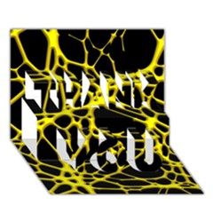 Hot Web Yellow THANK YOU 3D Greeting Card (7x5)  by ImpressiveMoments