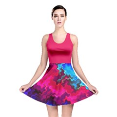 Psychedelic Storm Reversible Skater Dresses by KirstenStarFashion