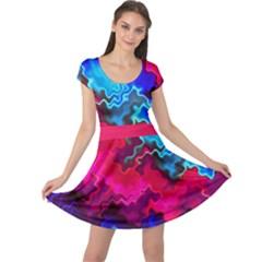 Psychedelic Storm Cap Sleeve Dresses