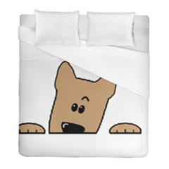 Peeping Yorkshire Terrier Duvet Cover Single Side (twin Size)