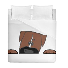 Peeping Boxer Duvet Cover (Twin Size) by TailWags