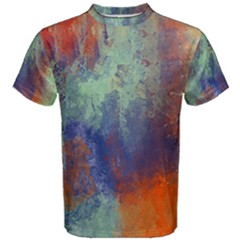 Abstract In Green, Orange, And Blue Men s Cotton Tees by theunrulyartist