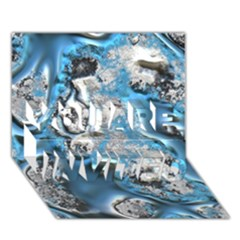 Metal Art 11, Blue You Are Invited 3d Greeting Card (7x5)  by MoreColorsinLife