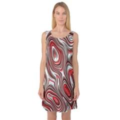 Metal Art 9 Red Sleeveless Satin Nightdresses