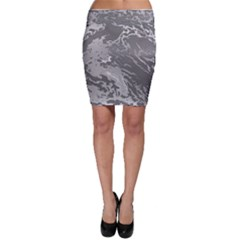 Metal Art Swirl Silver Bodycon Skirts by MoreColorsinLife