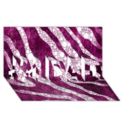 Purple Zebra Print Bling Pattern  #1 Dad 3d Greeting Card (8x4)  by OCDesignss