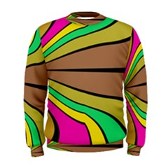 Symmetric Waves  Men s Sweatshirt