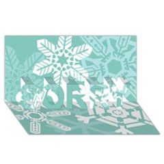 Snowflakes 3  Sorry 3d Greeting Card (8x4)  by theimagezone
