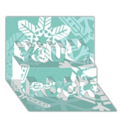 Snowflakes 3  You Rock 3d Greeting Card (7x5)  by theimagezone