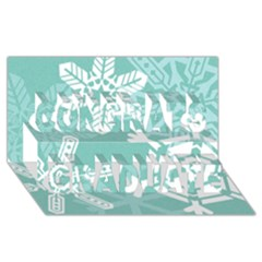 Snowflakes 3  Congrats Graduate 3d Greeting Card (8x4)  by theimagezone