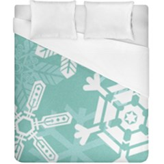 Snowflakes 3  Duvet Cover Single Side (double Size) by theimagezone
