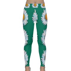 Daisy Pattern  Yoga Leggings by theimagezone