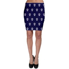 Skull Pattern Blue  Bodycon Skirts by MoreColorsinLife