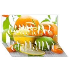 Citrus Fruits Congrats Graduate 3d Greeting Card (8x4)