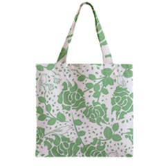 Floral Wallpaper Green Grocery Tote Bags by ImpressiveMoments