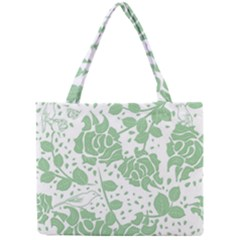 Floral Wallpaper Green Tiny Tote Bags by ImpressiveMoments