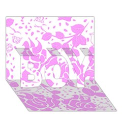 Floral Wallpaper Pink Boy 3d Greeting Card (7x5) by ImpressiveMoments