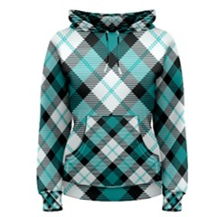 Smart Plaid Teal Women s Pullover Hoodies