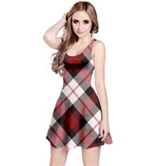 Smart Plaid Red Reversible Sleeveless Dresses by ImpressiveMoments