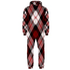 Smart Plaid Red Hooded Jumpsuit (men)  by ImpressiveMoments