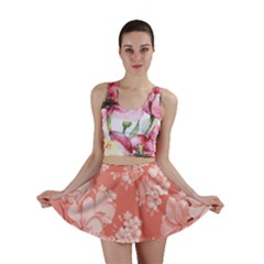 Delicate Floral Pattern,pink  Mini Skirts by MoreColorsinLife