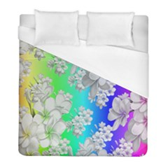 Delicate Floral Pattern,rainbow Duvet Cover Single Side (twin Size) by MoreColorsinLife