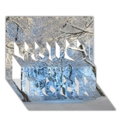 Another Winter Wonderland 1 You Rock 3d Greeting Card (7x5)  by MoreColorsinLife