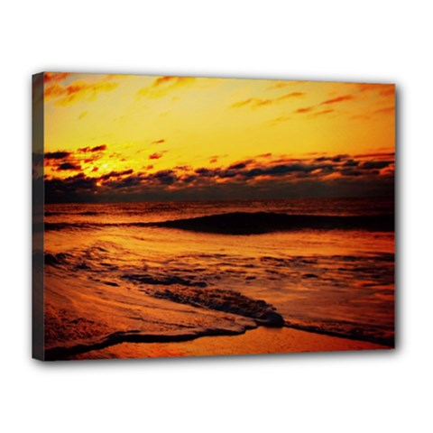 Stunning Sunset On The Beach 2 Canvas 16  X 12  by MoreColorsinLife