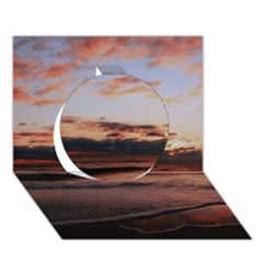 Stunning Sunset On The Beach 3 Circle 3d Greeting Card (7x5)  by MoreColorsinLife