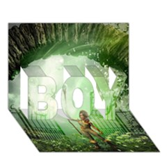 The Gate In The Magical World Boy 3d Greeting Card (7x5) by FantasyWorld7