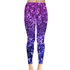 Midnight Glitter Women s Leggings by KirstenStar