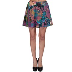 Steampunk Abstract Skater Skirts by MoreColorsinLife