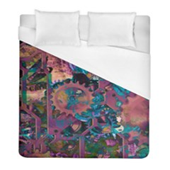 Steampunk Abstract Duvet Cover Single Side (twin Size) by MoreColorsinLife
