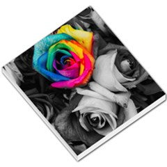 Blach,white Splash Roses Small Memo Pads by MoreColorsinLife