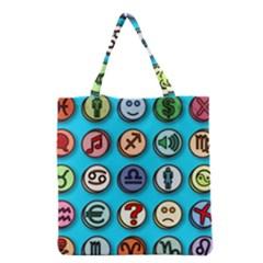 Emotion Pills Grocery Tote Bags by ScienceGeek