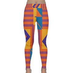 Shapes and stripes symmetric design Yoga Leggings