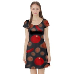 Blood Cells Short Sleeve Skater Dresses by ScienceGeek