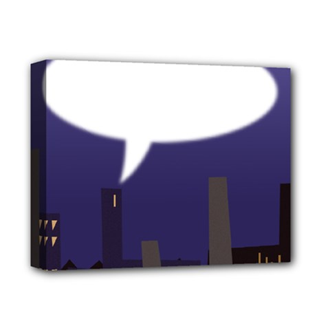 City Speech  Deluxe Canvas 14  x 11  by theimagezone