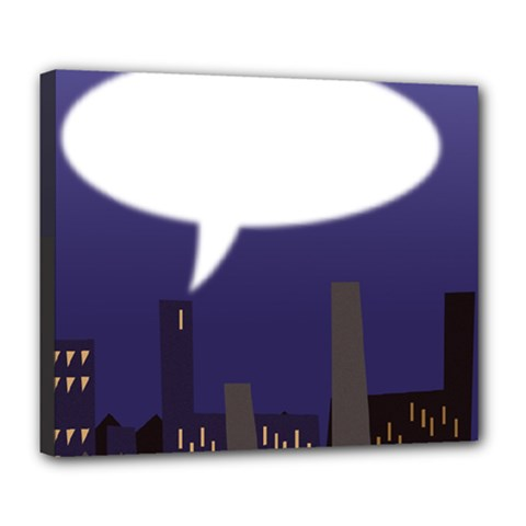 City Speech  Deluxe Canvas 24  X 20   by theimagezone