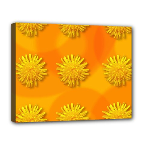 Dandelion Pattern Canvas 14  X 11  by theimagezone