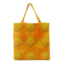 Dandelion Pattern Grocery Tote Bags by theimagezone