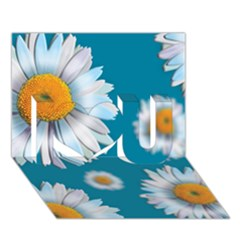 Floating Daisies I Love You 3d Greeting Card (7x5)