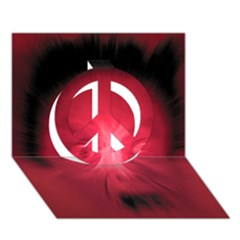 Scream Peace Sign 3d Greeting Card (7x5)  by theimagezone