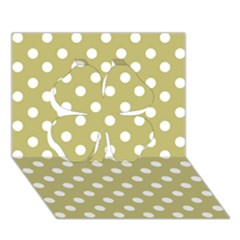 Lime Green Polka Dots Clover 3d Greeting Card (7x5)  by creativemom